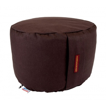 coussin yoga rond 22 cm chocolat