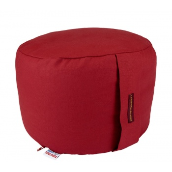 coussin yoga rond 22 cm rouge coquelicot